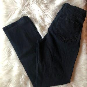 NYDJ Jeans - NYDJ Black Jeans Size 12 Sparkle on Pockets
